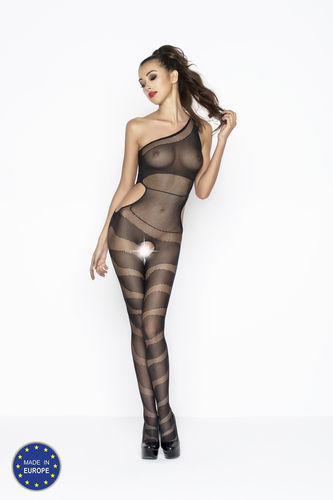 Gestreifter ouverter Bodystocking