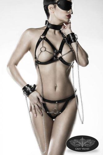 5-Pieces Erotic Set with Chains