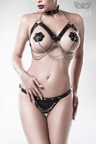 Erotic Set with Harness Bra