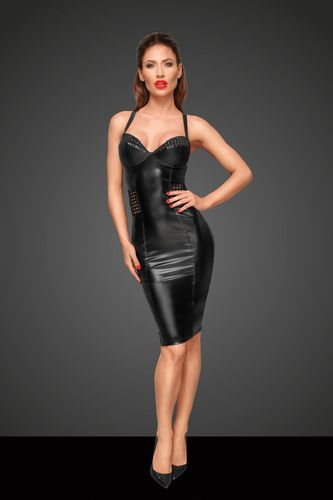 Knielanges Wetlook-Kleid